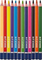 Купить №1 School Набор цветных карандашей Морские друзья Jumbo 12 шт, Карандаши