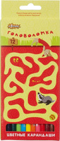 Купить №1 School Набор цветных карандашей Головоломка 12 шт, Карандаши