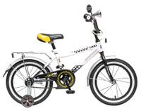 Купить Велосипед детский Novatrack Такси , цвет: черный, белый, 20 , Велосипеды