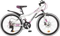 Купить Велосипед детский Novatrack Katrina , цвет: белый, 24 , рама 10 , Велосипеды