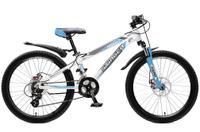 Купить Велосипед горный Stinger Magnet , цвет: белый, 24 , рама 12 , Велосипеды