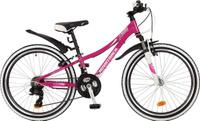 Купить Велосипед детский Novatrack Katrina , цвет: фиолетовый, 24 , рама 10 , Велосипеды