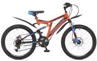 Купить Велосипед горный Stinger Highlander 100D , цвет: оранжевый, 24 , рама 14 , Велосипеды
