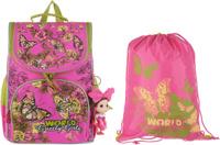 Купить Grizzly Рюкзак школьный с мешком цвет розовый RA-879-8, ООО Фаст-Текс , Ранцы и рюкзаки