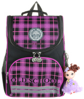 Купить Grizzly Рюкзак школьный с мешком цвет черный фиолетовый, Ранцы и рюкзаки