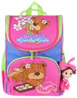 Купить Grizzly Рюкзак школьный с мешком цвет розовый синий, ООО Фаст-Текс , Ранцы и рюкзаки