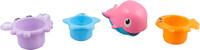 Купить Ути Пути Набор игрушек для ванной 4 шт цвет голубой оранжевый фиолетовый 61561, Первые игрушки
