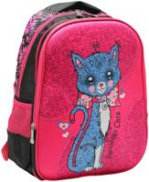 Купить Рюкзак детский Котенок цвет розовый черный 2820267, NoName, Ранцы и рюкзаки