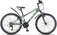 Купить Велосипед детский Stels Navigator-400 V 24 V040 , цвет: серый, зеленый, диаметр колес 24 , размер рамы 12 , Велосипеды