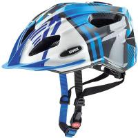 Купить Шлем защитный Uvex Quatro Junior , цвет: синий, серебристый. Размер XXXS-XS, Шлемы и защита