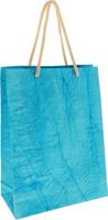 Купить Пакет подарочный Дизайнерский , 28 х 17 х 7 см. 2728081 цвет: голубой, Подарочная упаковка