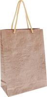 Купить Пакет подарочный Дизайнерский , 28 х 17 х 7 см. 2728081 цвет: бежевый, Подарочная упаковка