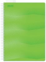 Купить Attache Тетрадь Waves 100 листов в клетку формат А4 цвет зеленый, Тетради