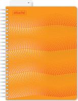 Купить Attache Тетрадь Waves 100 листов в клетку формат А5 цвет оранжевый, Тетради