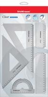 Купить Erich Krause Набор геометрический Clear 4 предмета, Чертежные принадлежности