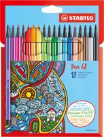 Купить STABILO Набор фломастеров Pen 68 18 цветов, Фломастеры