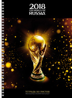 Купить FIFA-2018 Тетрадь ЧМ по футболу 2018 Золотой кубок 80 листов 80Тт4A1гр_17093, Тетради