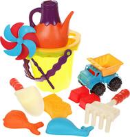 Купить B.Summer Набор для песка Ready Beach Bag цвет зеленый 12 предметов 68704, Игрушки для песочницы