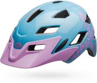 Купить Шлем защитный детский Bell 18 Sidetrack. Бабочка , цвет: голубой, сиреневый. Размер XS (47/54), Bell., Шлемы и защита