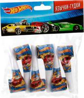Купить Веселый праздник Набор язычков-гудков Hot Wheels 6 шт, Аксессуары для детского праздника