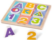 Купить Melissa & Doug Пазл для малышей Мои первые пазлы Буквы и цифры, Обучение и развитие