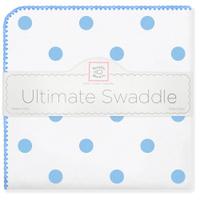 Купить SwaddleDesigns Пеленка фланелевая Ultimate Big Dots Blue, Подгузники и пеленки
