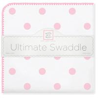 Купить SwaddleDesigns Пеленка фланелевая Ultimate Big Dots Pink, Подгузники и пеленки