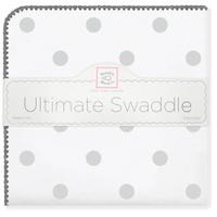 Купить SwaddleDesigns Пеленка фланелевая Ultimate Big Dots Sterling, Подгузники и пеленки