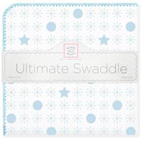 Купить SwaddleDesigns Пеленка фланелевая Ultimate Jax & Stars Blue, Подгузники и пеленки