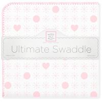 Купить SwaddleDesigns Пеленка фланелевая Ultimate Jax & Hearts Pink, Подгузники и пеленки