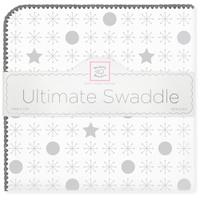 Купить SwaddleDesigns Пеленка фланелевая Ultimate Jax & Stars Sterling, Подгузники и пеленки