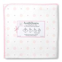 Купить SwaddleDesigns Пеленка фланелевая Ultimate Pink Big Dot Lt Dot, Подгузники и пеленки