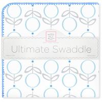 Купить SwaddleDesigns Пеленка фланелевая Ultimate Lolli Fleur Blue, Подгузники и пеленки