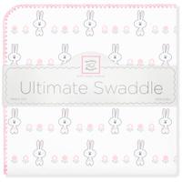 Купить SwaddleDesigns Пеленка фланелевая Ultimate Garden Bunnie Pink, Подгузники и пеленки