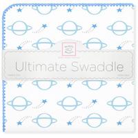 Купить SwaddleDesigns Пеленка фланелевая Ultimate Planets Blue, Подгузники и пеленки