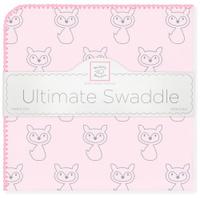 Купить SwaddleDesigns Пеленка фланелевая Ultimate Gray Fox Pink, Подгузники и пеленки