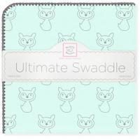 Купить SwaddleDesigns Пеленка фланелевая Ultimate Gray Fox Pstl SeaCrystal, Подгузники и пеленки