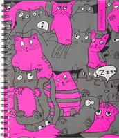 Купить Unnika Land Тетрадь Кошачье совещание 48 листов в клетку цвет серый розовый, Тетради