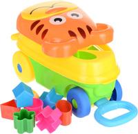 Купить Каталка-сортер Умные игрушки Тигренок цвет зеленый желтый оранжевый, NoName, Первые игрушки