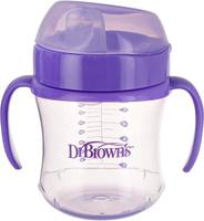 Купить Dr.Brown's Поильник-непроливайка с мягким носиком от 6 месяцев цвет фиолетовый 180 мл, Поильники
