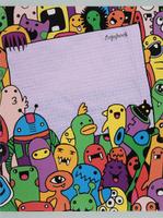 Купить Unnika Land Тетрадь Безумные каракули цвет фиолетовый 48 листов в клетку, Тетради