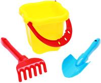 Купить Рыжий Кот Набор игрушек для песочницы №5 Ведро совок грабли в ассортименте, Игрушки для песочницы
