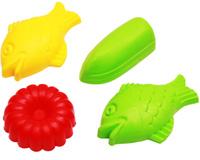 Купить Рыжий Кот Игрушка для песочницы Формочки 4 шт в ассортименте, Игрушки для песочницы