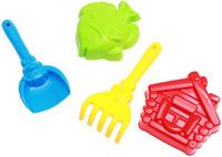 Купить Рыжий Кот Набор игрушек для песочницы №10 Лопатка грабли 2 формочки в ассортименте, Игрушки для песочницы