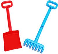 Купить Рыжий Кот Набор игрушек для песочницы №23 Лопатка грабли в ассортименте, Игрушки для песочницы