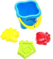 Купить Рыжий Кот Набор игрушек для песочницы №27 Ведро 3 формочки в ассортименте, Игрушки для песочницы