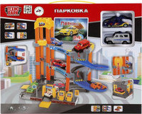 Купить ТехноПарк Парковка с 2 машинками УАЗ Лада P7688A-3R (24), Треки и парковки