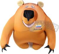 Купить Штучки, к которым тянутся ручки Подушка-игрушка антистрессовая Медведь патриот маленький, Мягкие игрушки