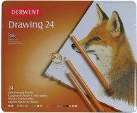 Купить Derwent Набор цветных карандашей Drawing 24 цвета, Карандаши