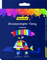 Купить Silwerhof Набор фломастеров Тату с вентилируемым колпачком 10 цветов 877070-10, Фломастеры